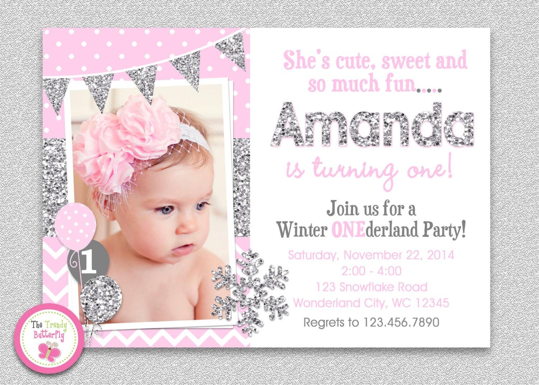 Winter Wonderland Birthday Invitation Winter Wonderland   Etsy