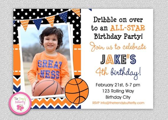 basketball birthday invitation basketball birthday party etsy