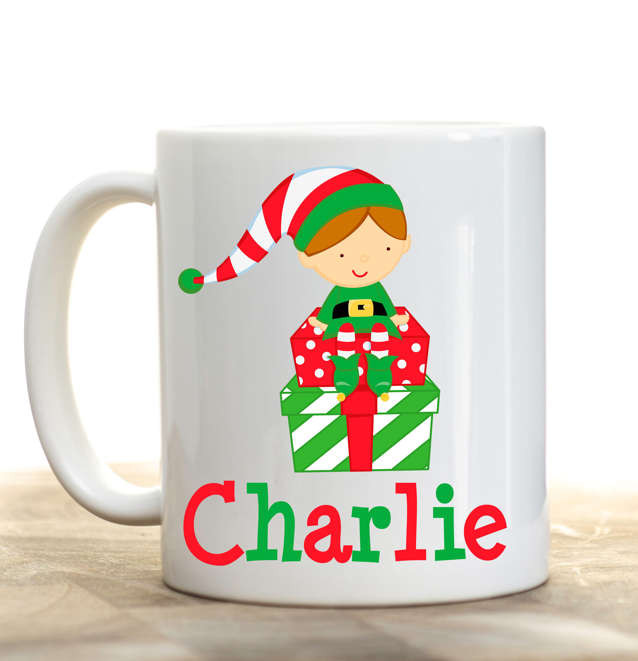 Elf Christmas Mug Kids Mug Kids Personalized Cup Elf | Etsy