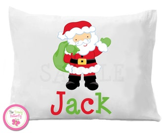 Santa Claus Pillow Case , Naughty or Nice Personalized Pillow Case