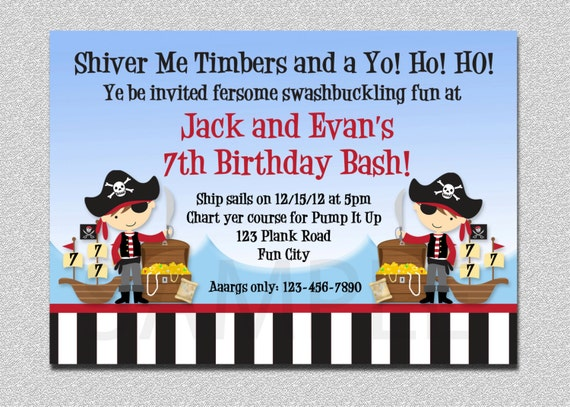 Pirate birthday invitation pirate party birthday invitation etsy image 0 filmwisefo