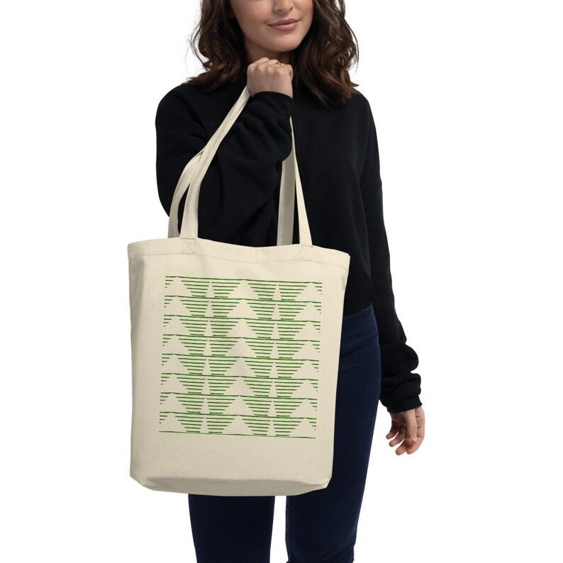 Winter Woods Totebag organic cotton Christmas Totebag reusable grocery bag library bag satchel christmas gift