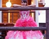 Dip Dye Wedding Dress, Pink Ombre Wedding Dress, Pink Wedding Dress, Pink Wedding Gown, Pink Bridal Gown