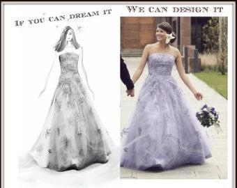 Design Your Own Custom Wedding Dress from Award Winning Designer in Teaneck, NJ