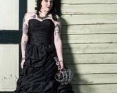 Black Wedding Dress, Black Wedding Gown, Black Bridal Gown, Gothic Wedding Dress, Gothic Bridal Gown, Gothic Wedding Gown