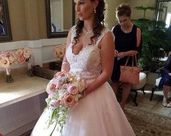 Fairytale Convertible Wedding Dress with Dramatic Ballgown Skirt, Reception Tutu and Mini Dress by Award Winning Bridal Salon