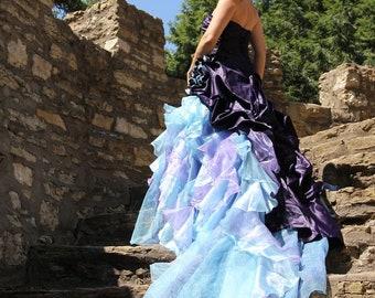 Royal Purple Wedding Dress Alternative Offbeat Custom Made to   Etsy