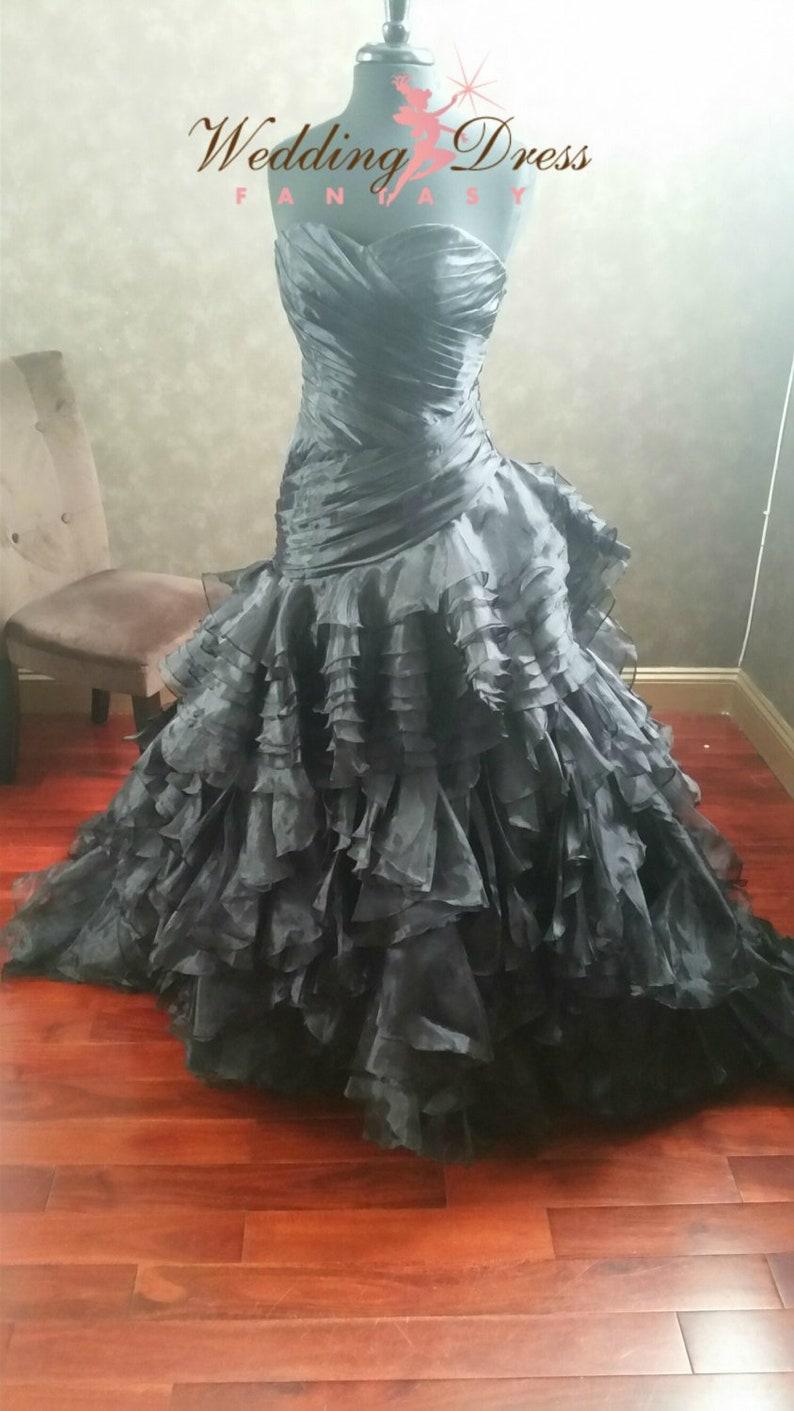 5056a858cc33 Nero Wedding Dress abito corsetto Gothic gotico abito da