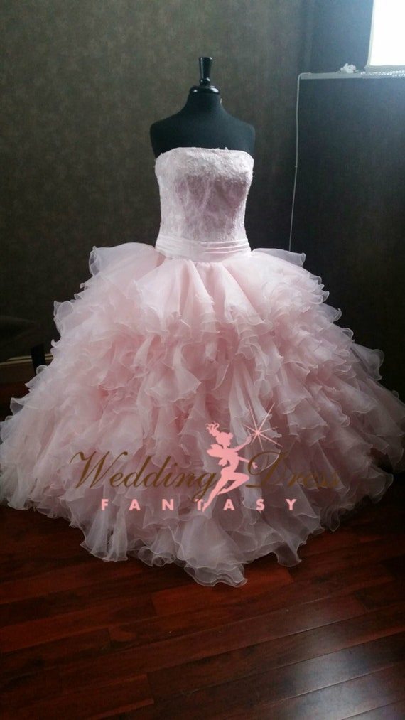 Fairy Tale Princess Wedding Dress, Blush Pink Bridal Ballgown, Pink Wedding Dress, Blush Wedding Dress, Princess Wedding Gown