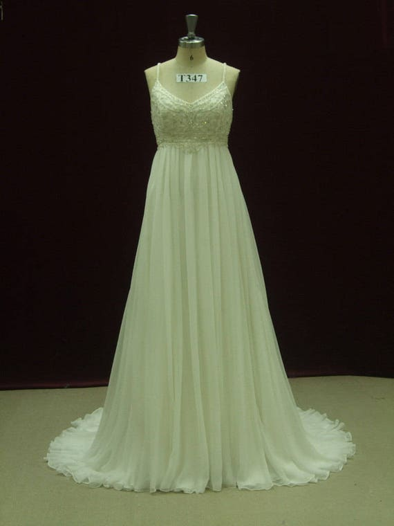 Gatsby Wedding Dress Empire Waist Wedding Dress with Straps | Etsy
