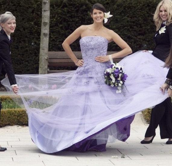 Purple Wedding Dress Lavender Wedding Dress Lilac Wedding | Etsy