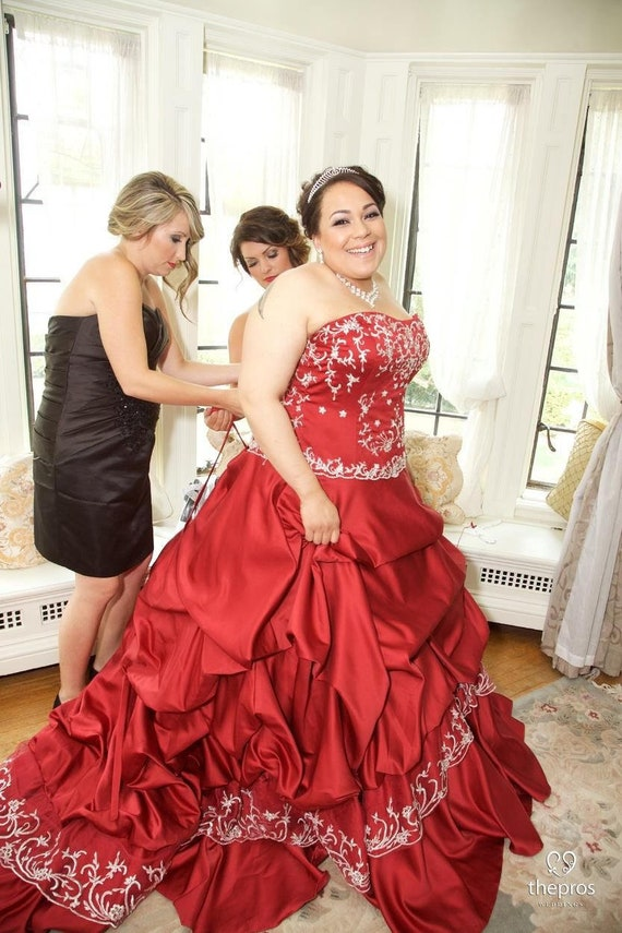 Red Party Dress For 1//6 Doll Clothes Multi-layer Evening Gown Wedding Dresses