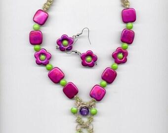 Hemp Necklace set Spring