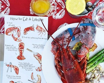 How To Eat A Lobster Table Cards