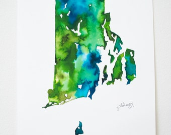 Florida Watercolor Map Etsy