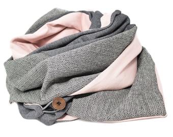 Triangular Scarf Scarves Scarf Scarves grey/rose XL Scarf XXL Scarf