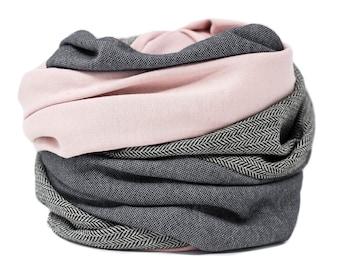 Loop scarf Loop scarf herringbone rosé scarf