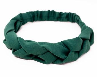 moss green headband, braided hairband, macrame, macrame, bestseller