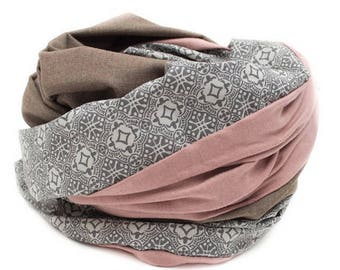 eae707117c4f10 Loopschal Schal rosa grau taupe