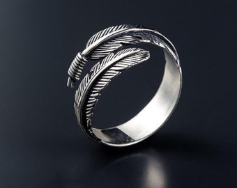 feather Ring for men women gift