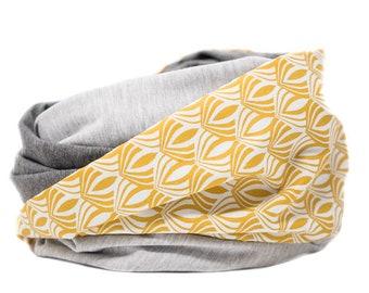 Still scarf mustard yellow snood hose scarf