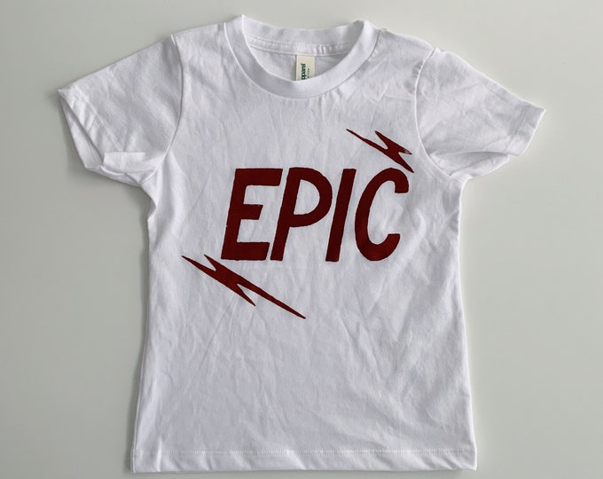 Earthy Clay on Organic Cotton White or Blue Tee Epic