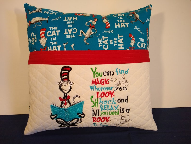 Storybook Pillow Pocket Pillow Reading Pillow Book Pillow image 0