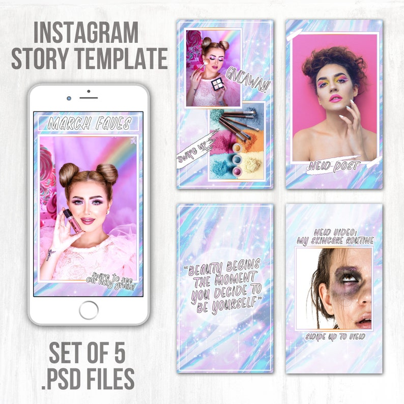 Instagram Story Template | Glam Aesthetic | Social Media Templates |  Instagram Story Template Bundle for Influencers, Bloggers, Brands