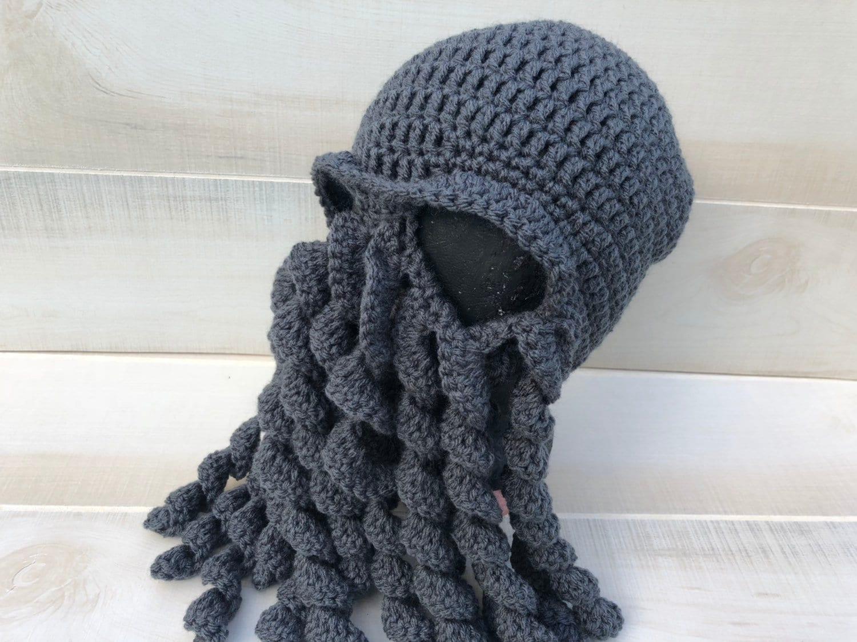 Cthulhu Hat Cosmic Entity Adult Hat Child Hat Crochet Hat Etsy