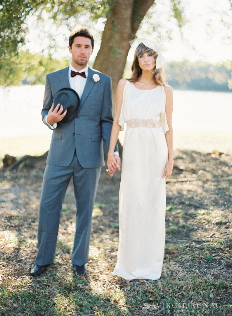24b974e3ae669 FREE SHIP Size 8 Organic Lace Wedding Dress Silk Wedding Dress Boho Beach  Wedding Dress Wedding Alternative Eco Hemp Silk Cotton Lace