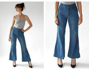 9f0c2a4daa2 70s Bell Bottom Jeans- 30 x 31