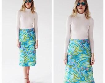 7f0ecb65ce Vintage Pastel Camo Skirt- 90s Swirl
