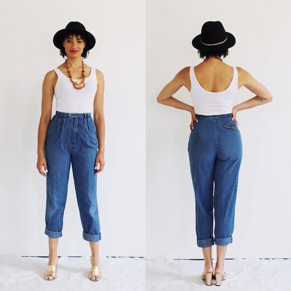 High Waist Jeans- 26, High Waisted, Mom Jeans, Vin
