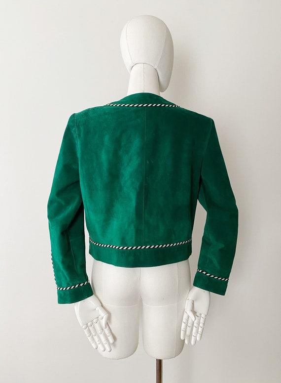 Green Suede Jacket 90s Vintage Danier Large Dark Green Oversized