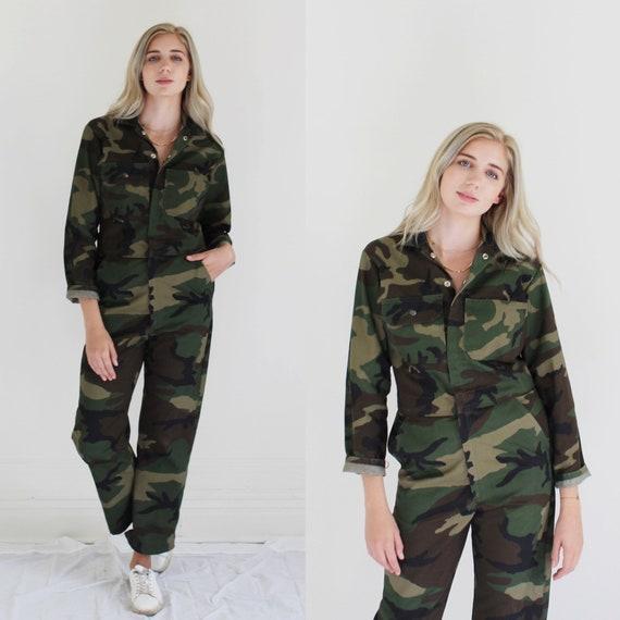 Camouflage Coveralls- S/M, Unisex Utility Jumpsuit