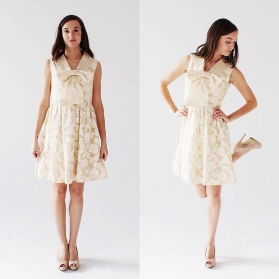 Vintage SARMI 60s Bow Dress- Designer Vintage, Cre