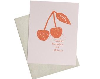 Ma Chérie Birthday Card