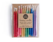 Birthday Candles | Hand-dipped Beeswax Short Rainbow