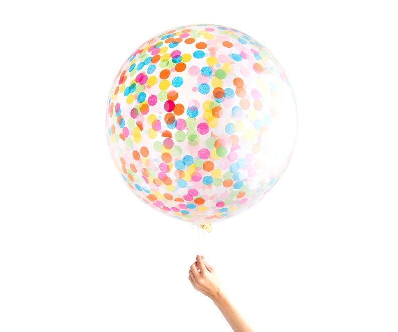 Confetti Balloon  Jumbo Multicolor 36 Balloon image 0