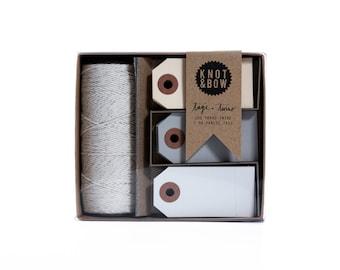 Tag + Twine Box / Silver Neutral