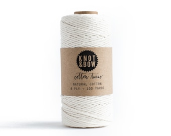 Natural Cotton Twine / 100 Yards