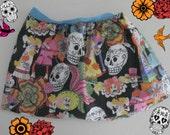 Sugar Skull Baby Girl Day Of The Dead Skirt