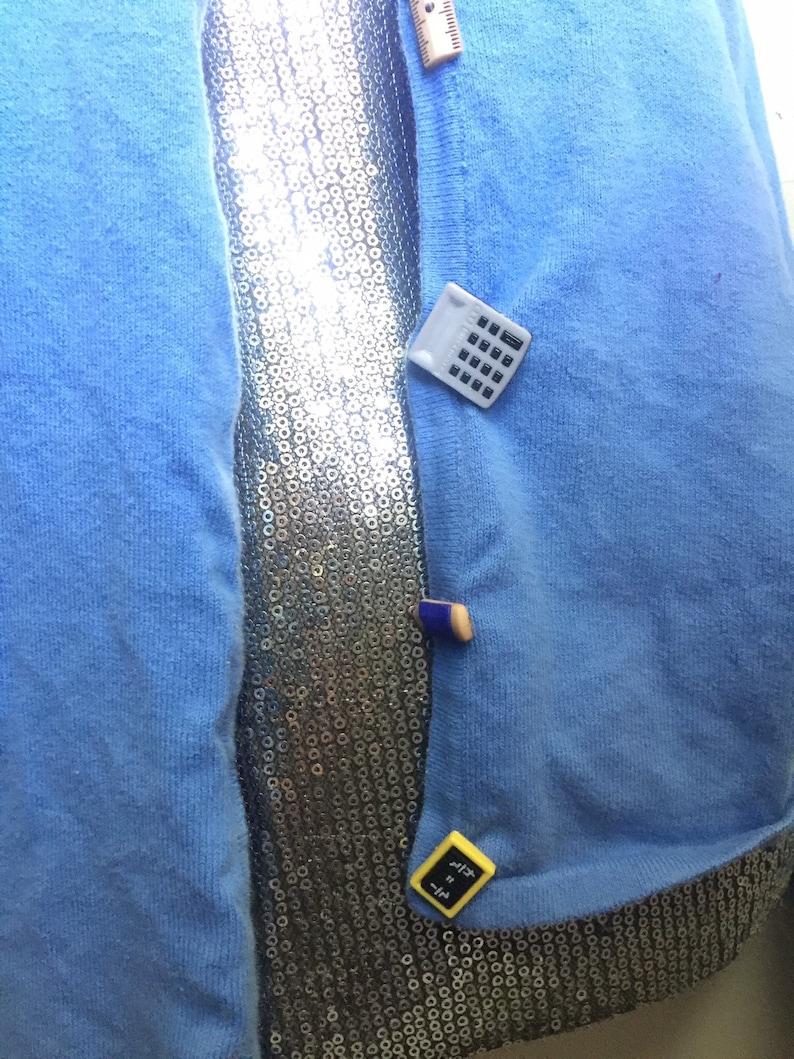 Back To School Teacher Open Button Down Cardigan Sweater