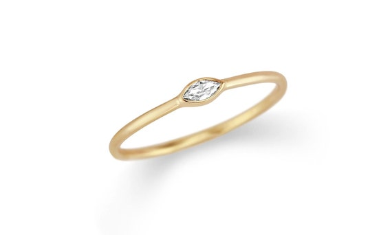 bague diamant minimaliste