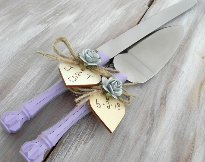 Rustic Wedding Cake Server Knife Set Personalized Gift Wedding Gift Wedding Cake Knife