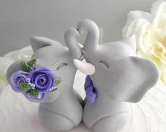 Wedding Cake Topper Elephant Wedding Cake Topper Bride Groom Keepsake Custom Wedding Cake Topper Wedding Decor Boho Wedding Elegant Wedding