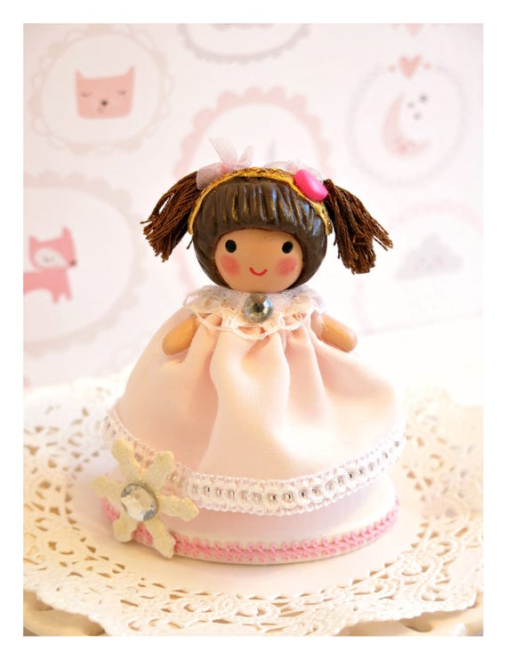 Girl 1st Birthday Cake Topper Pink And Gold Second