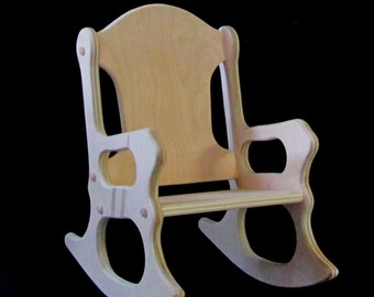 Wooden Kids Rocking Chair  Unfinished
