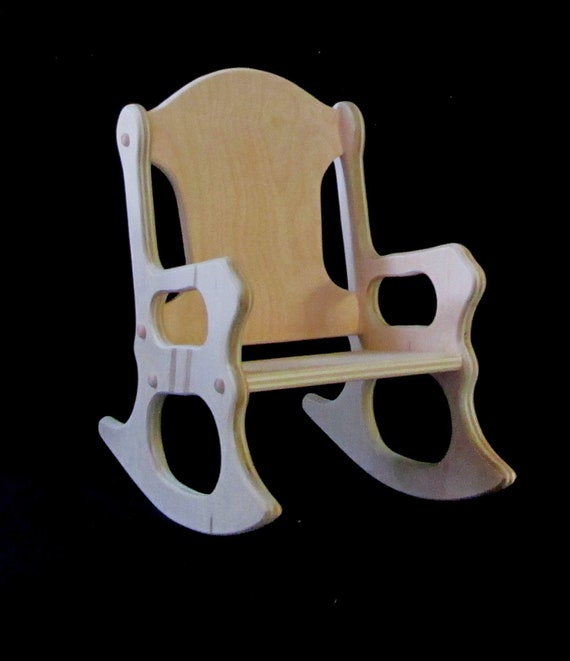 Wooden Kids Rocking Chair Unfinished | Etsy