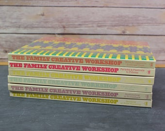 1975 The Family Creative Workshop Books, Set of 6, Crafting Books